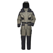Greatrees Men's Nylon Lifesaving Floatation Coverall Suits Grey waterproof breathable windproof Suits
