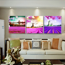 Unframed Wall Pictures For Living Room Large HD Poster Oil Painting 3 Pieces Flowers Home Decor Wall Art Canvas Modular Pictures