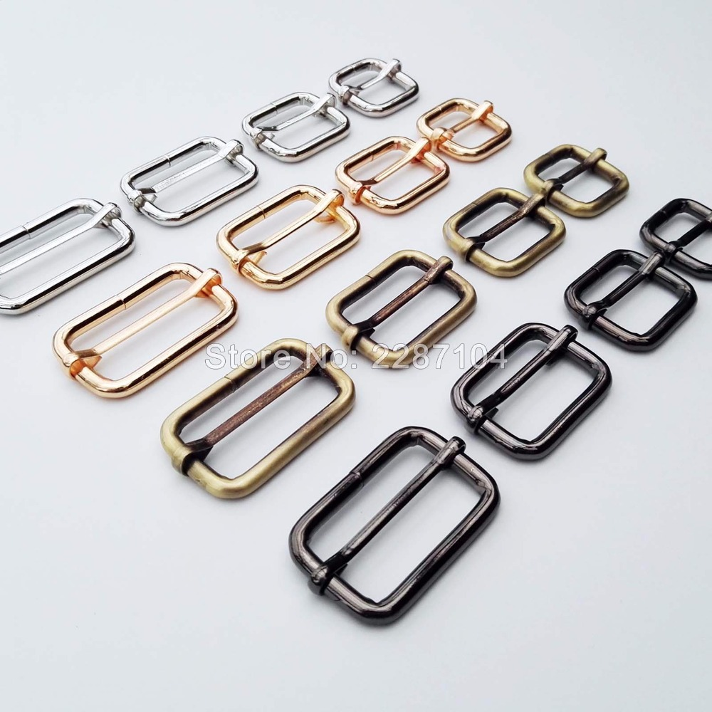 Luggage & Bags 5pcs 2.5cm Metal Tri-glides Wire-formed Roller Pin Buckles Strap Slider Adjuster Wide Varieties
