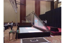 3x4 Meter Holo Film 3D Holographic Projection System with Stretcher system and reflective screen(China)