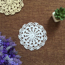 12 pcs Vintage look hand crocheted doilies round, handmade table mats for home/ wedding decor 12cm round doily on sales