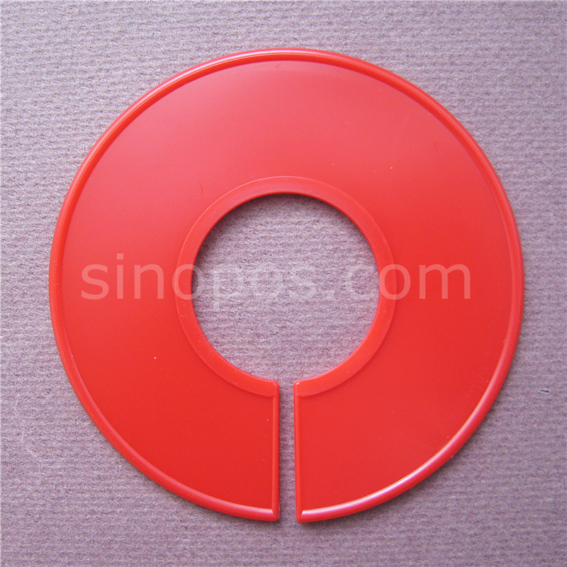 Round Size Dividers 9 &11cm Blank Black Red, hangrail circle sizes divider apparel clothes hanger code size markers display disc(China (Mainland))