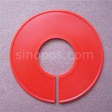 Round Size Dividers 9 &11cm Blank Black Red, hangrail circle sizes divider apparel clothes hanger code size markers display disc(China)
