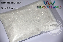 0.2mm  white  with silver light Color Glitter Powder for nail,tatto art decoration DIY  powder