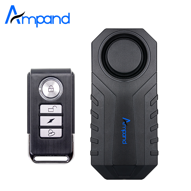 Ampand Waterproof Bike Motorcycle Electric Bicycle Security Anti Lost Wireless Remote Control Vibration Detector Alarm(China)
