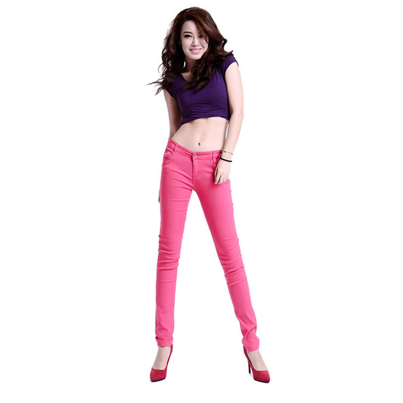 Foremode Boutique Female Womens Candy Colored Jeans Woman Skinny Solid Color Stovepipe Pencil Jeans women jeans 15 color  1 0Одежда и ак�е��уары<br><br><br>Aliexpress