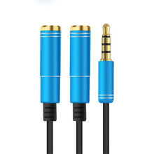 3.5mm male jack to two 3.5mm female Auxiliary Audio Cable 1 to 2 Dual Y Splitter Cable Adapter Earphone Headphone Jack Hot Dec26