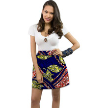 Women african leisure skirts colorful element african print dashiki skirts africa clothing tailor custom(China)