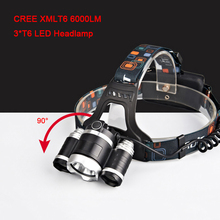6000LM CREE XML-T6*3 Rechargeable Headlamp Headlight 4 Mode Head Torch light Lamp LED flashlight long life for outdoor 7028