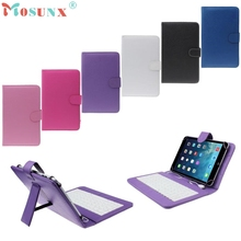 "Del 7"" Universal Pu Leather Case Cover with Micro USB Keyboard For Tablet PC Feb29"