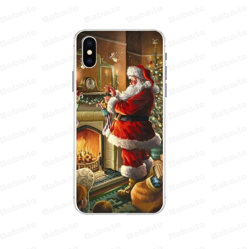 Cute Cartoon Christmas Santa Claus Elk