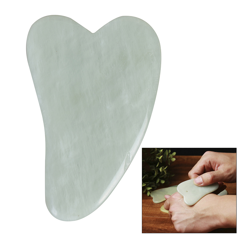 1PC Natural Jade Guasha Board Scraching Facial Eyes Scraping Gua Sha SPA Massage Tool Acupoints Plate Massager Beauty Body Care