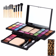 Professional Makeup Palette Set Set Cosmetic Kit Base Foundation Eyeshadow Brushes Powder Concealer Highlight Contour Palette(China)