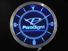 nc0432 Paradigm Speakers Home Theater Neon Sign LED Wall Clock