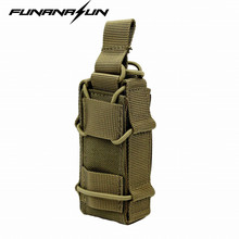 1000D Nylon Molle Tactical Magazine Pouch Hunting Portable Pistol Gun Holster Outdoor Utility EDC Flashlight Pack Bag