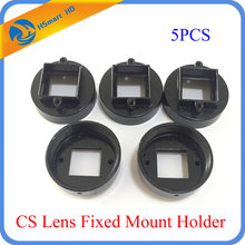 Camera Support 5X CCTV Camera CS Lens Fixed Mount Holder for (20mm screw distance) Cctv AHD TVI CVI 1080P HD IP Cameras(China)