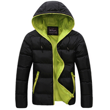 Winter Men Jacket 2017 New Brand High Quality Candy Color Warmth Mens Jackets And Coats Thick Parka Men Outwear XXXL(China)