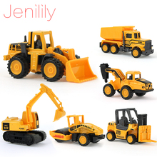 Jenilily 8Pcs/Set Mini Alloy engineering Car Tractor Toy Dump Truck Model Classic Toy Mini Gift For Boy