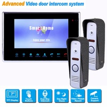 "7"" TFT 800TVL Video Intercom Rainproof Video Door Phone Doorbell Camera for CCTV Home Security System F1363D"
