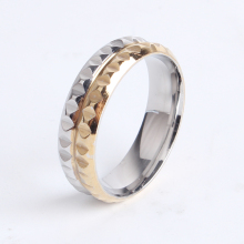 6mm gold and silver gear punk 316l Stainless Steel finger rings for women men wholesale