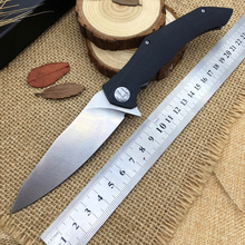 top survival folding knife hunting best tactical knife pocket EDC Army Black G10 composite fiber handle cs tool real mes ganzo(China)