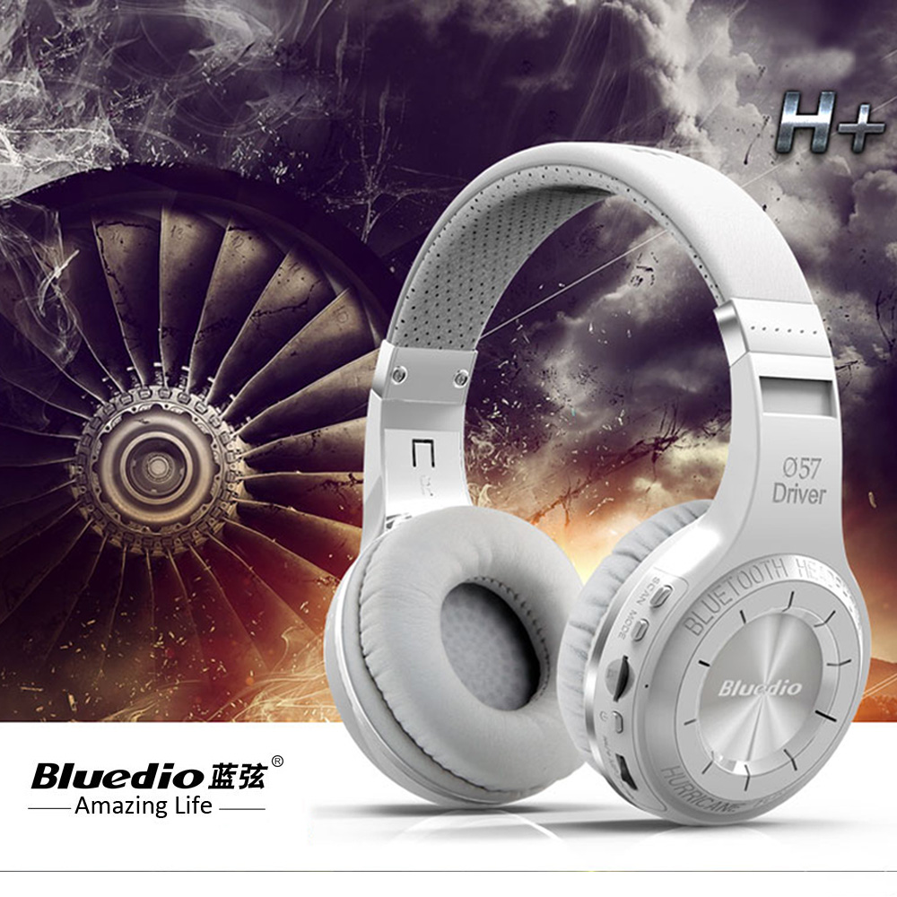 Professional Bluedio H+Bluetooth Wireless headphones Built-in Mic Micro-SD/FM Radio BT4.1 wireless headset For Phones Music<br>