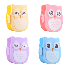2017 Hot Sale Cute Cartoon Food Containers Food Contain Bento Boxes Owl Plastic Lunch Storage Box Oven Heating For Kid(China)