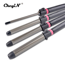 9mm/32mm Titanium Hair Curler Curling Wand Iron Rotatable Hair Styler Wet&Dry Tongs Curly Hair Styling Tools Temperature Adust(China)
