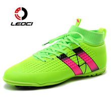 LEOCI Indoor Futsal Soccer Boots Sneakers Men Cheap Soccer Cleats Superfly Original Sock Football Shoes With Ankle Boots Zapato(China)