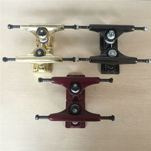 "RUCKUS Skate Trucks 5"" Low Skateboard Trucks Shiny Gold/Gun Metal/Red Aluminum Trucks For 7.5""-7.75"" Decks(China)"