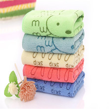 New Brand 100% Cotton Towel Quick-Dry Square 34*34cm Face Towel Water ripples Pattern Skin care