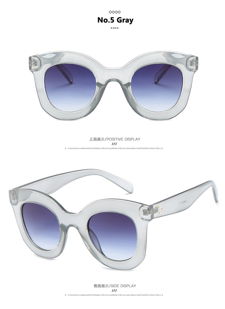 Fashion 2018 Cool Sunglasses Women Luxury Brand Designer Vintage Sunglass Clear Sun Glasses For Woman Shades Ladies Goggles