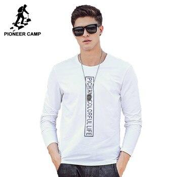 Pioneer Camp brand clothing T shirt men top quality 2017 Spring Autumn Men Long Sleeve Tshirt male Long-Sleeved T-Shirt