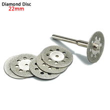 5x 22mm dremel accessories diamond grinding wheel saw mini circular saw cutting disc dremel rotary tool diamond disc for stone(China)
