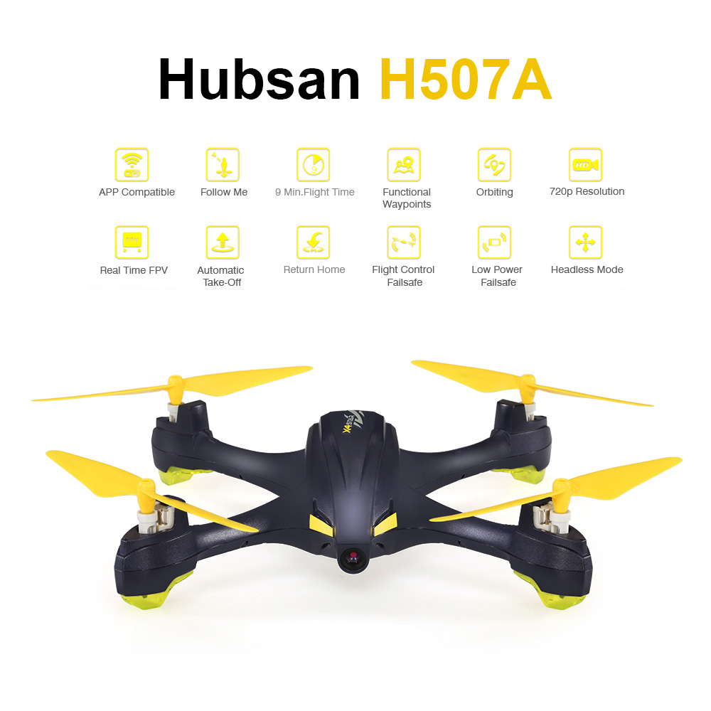 Hubsan X4 H507A Star Pro 720P Camera Drone Wifi FPV RC Quadcopter Follow Me Mode Way Point GPS One-Key Return RC Selfie Drone (17)