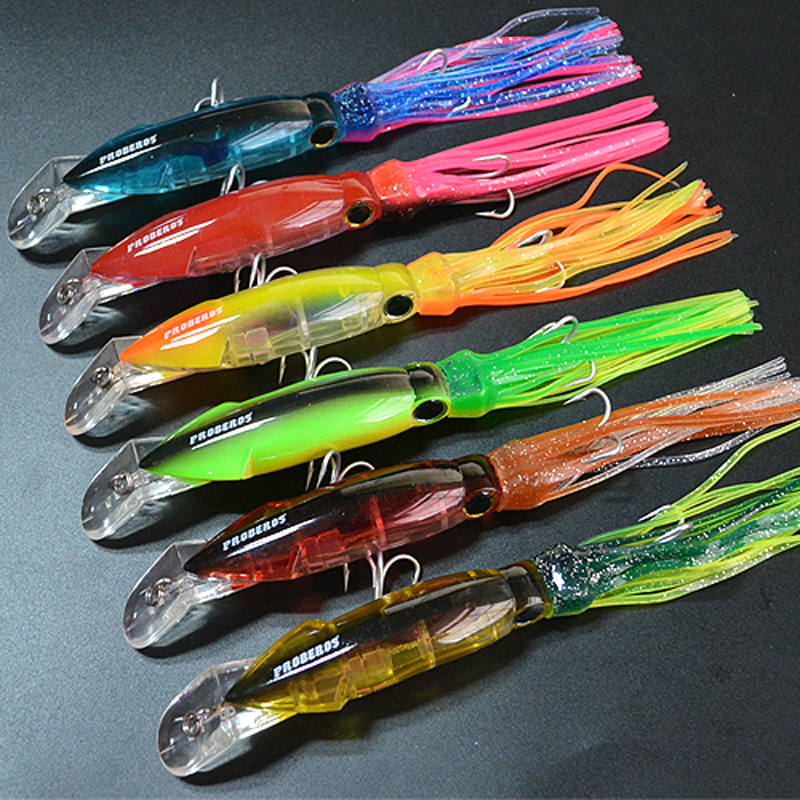 14cm/40g Squid Lure Hard Fishing Lures Squid Bait With Palpus<br><br>Aliexpress