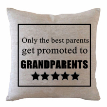 Funny Only the Best Parents Get Promoted to Grandparents Cushion Cover Grandma Grandpa Throw Pillow Case Grandfather Gift Decor(China)