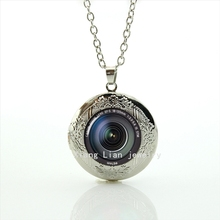 2017 Collares Maxi Necklace Collier Hot Sale Brand Design Dslr Lenses Camera Lens Photography Gift Locket Necklace Jewelry T371(China)
