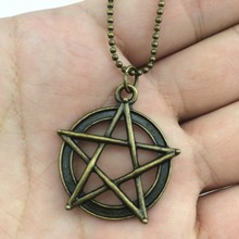Clearance! 2pcs/lot Fashion star necklace, Vintage Pentagram necklace, 70cm ball chain long necklace, fashion jewelry necklace