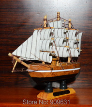 New 5.2 inch Handmade Wooden Ship Model Pirate Sailing Boats Toys For Children Home Decor - China Style - Good Quality