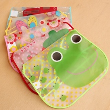 EVA Transparent Baby Aprons Kids Feed Food Baby Bibs Waterproof Cartoon Pattern Feeding Child Newborns Clothes