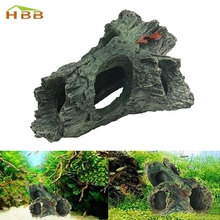 S-home Hot Aquarium Landscape Decoration Trunk Bole Driftwood Fish Tank Resin Ornaments HOT mar9(China)