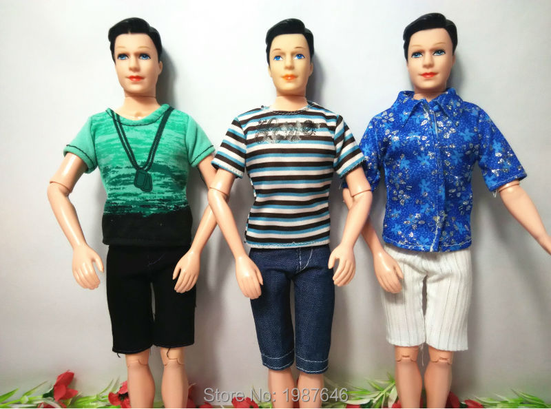 2016 New three Units Males Cool Informal Go well with Garments Prince Trend Put on Outfit For Barbie Pal Ken Doll Finest Reward child Toys