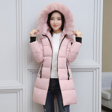 New Fashion 2018 Women Winter Jacket Fur Collar Thick Warm Hooded Female Womens Winter Coat Long Parka Outwear Camperas