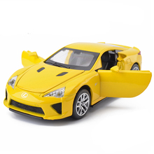 New 1:32 Collection Toys Double Horses Car Styling LEXUS LFA Model Alloy Supercar Model The Fast and the Furious For Kids Toys(China)