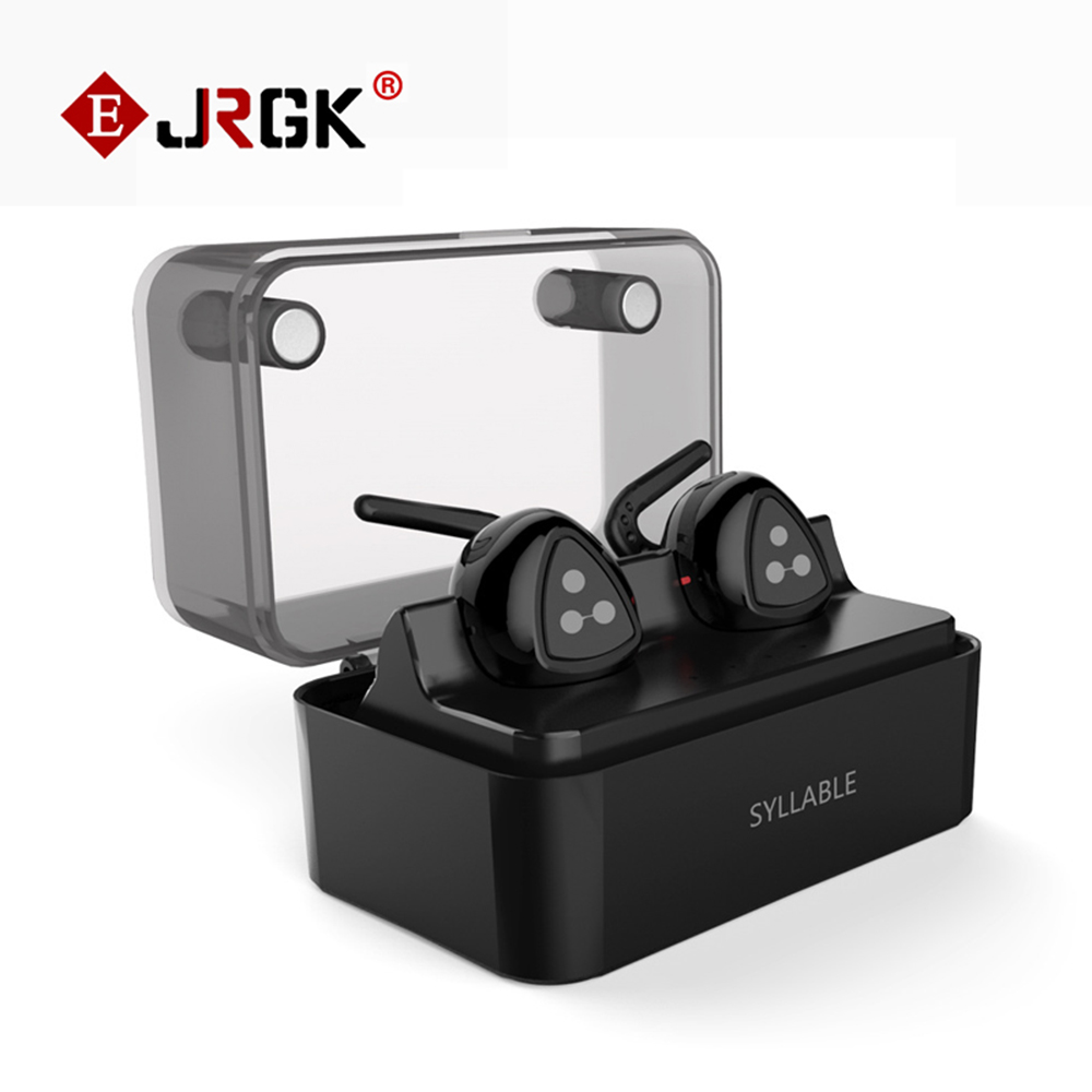Syllable D900 MINI D900S Updated Version Stereo Bluetooth Earphone Headset Wireless Earbuds with Charge Box for iPhone 7 Samsung<br><br>Aliexpress