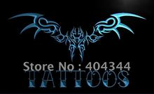 LB834- Tattoos Wing Art Display Bar   LED Neon Light Sign   home decor shop crafts