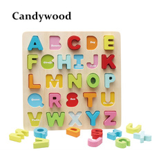 30*30CM Large Puzzle Board Wooden Toys Alphabet Letters Digital 3D Puzzle Kids Early Educational Toys For Children