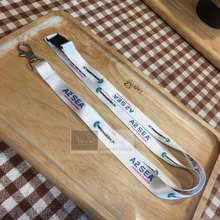 500pcs/Lot 1.5*90cm customized Key Chain Neck Strap lanyard printed your brand logo with free shipping DHL Wholesale