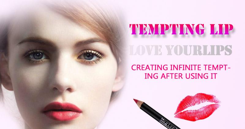 Magical Halo 12pcs/set Pro Waterproof Bright Pencil Lip Liner Pencil Makeup Cosmetic For Lips Long Lasting Lipliner Pen Lipliner 8